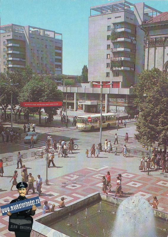 Краснодар. Центральная часть города, 1982 год