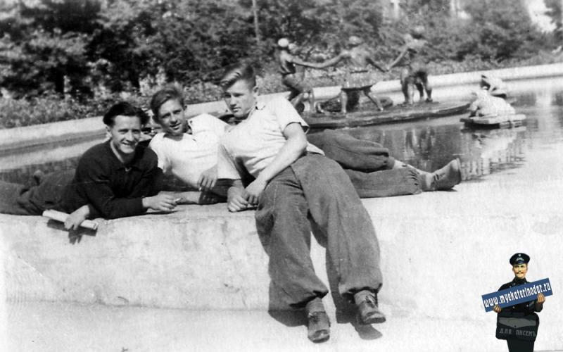 Динамовцы в парке, 1949 год.