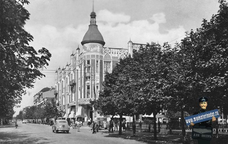 "Краснодар. Гостиница ""Кубань"", 1964 год"