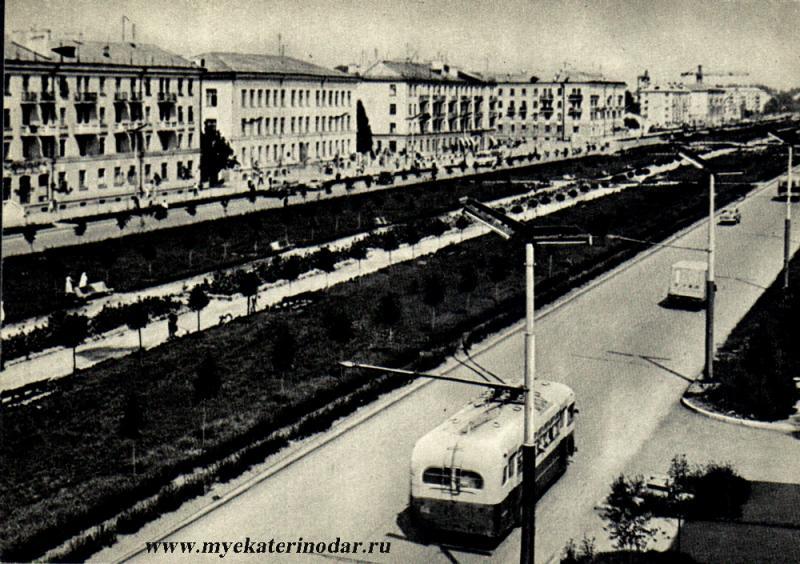 Краснодар. Красная улица, 1965 год