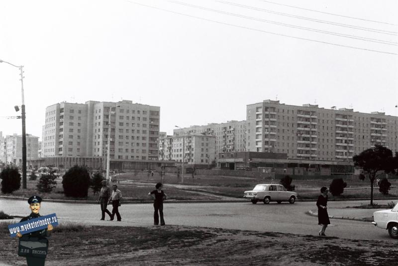 Краснодар. Новостройки Фестивального микрорайона , 1978 год.