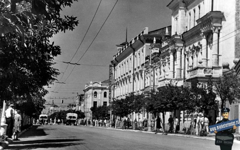 Краснодар. Общий вид ул. им. Сталина, 1951 год.