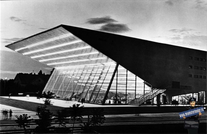 """Краснодар. Широкоформатный кинотеатр """"Аврора"""". 25 июня 1967 года."""