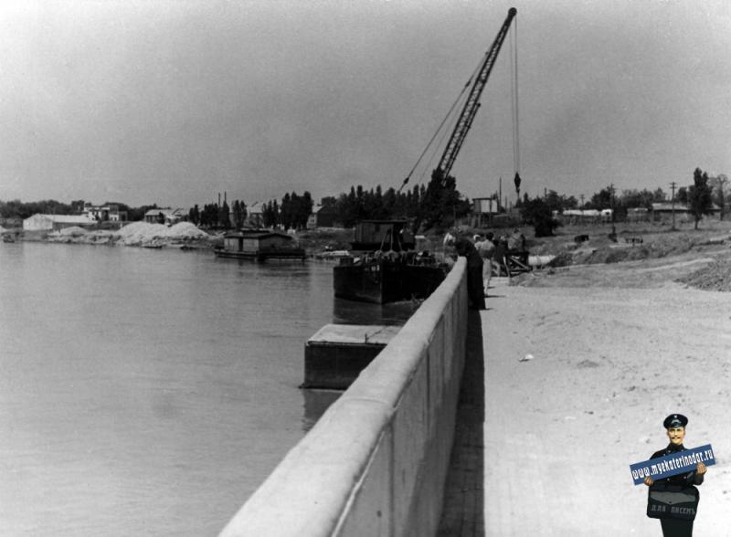 Краснодар. Строительство набережной, 12 мая 1966 года.