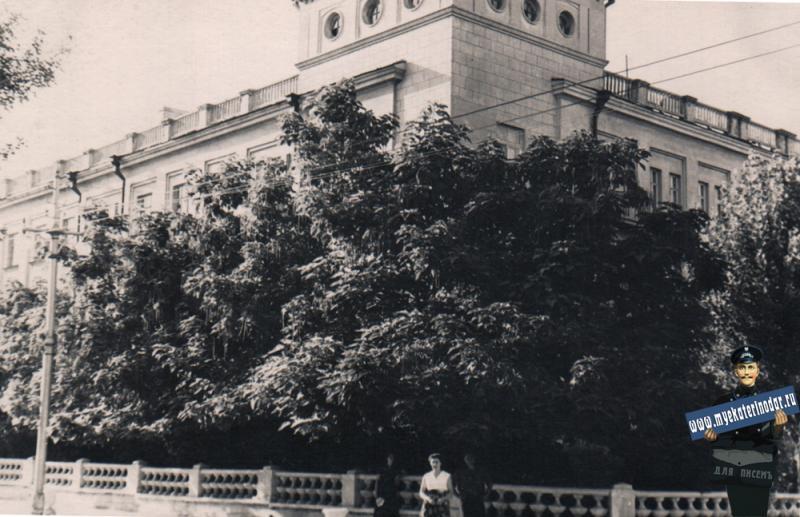 Краснодар. Угол улиц Мира и Гудимы, 1963 год