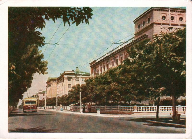 Краснодар. ул. Мира. Нефтяной техникум, 1957 год