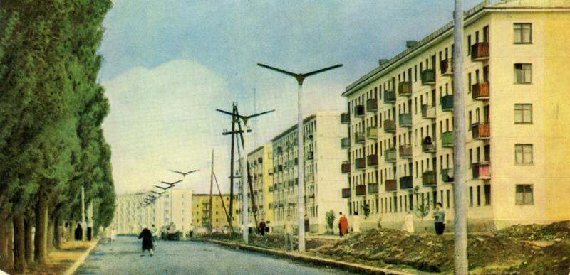 Краснодар. Улица Карла Либкнехта в новом районе города, 1963 год