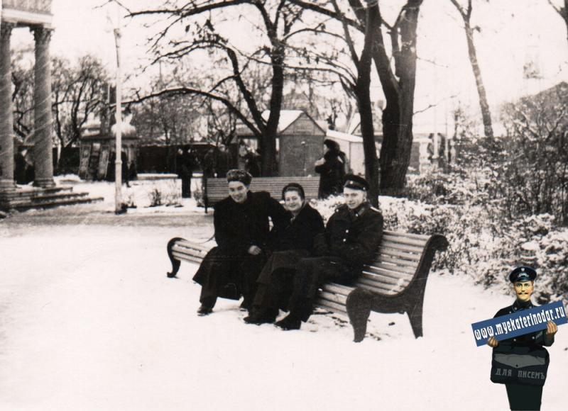 Краснодар. Первомайский  сквер. Январь 1957 года
