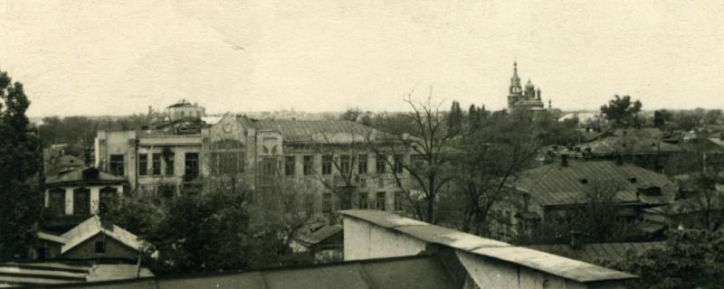 Общий вид на город на запад, Троицкая церковь, 1948 год