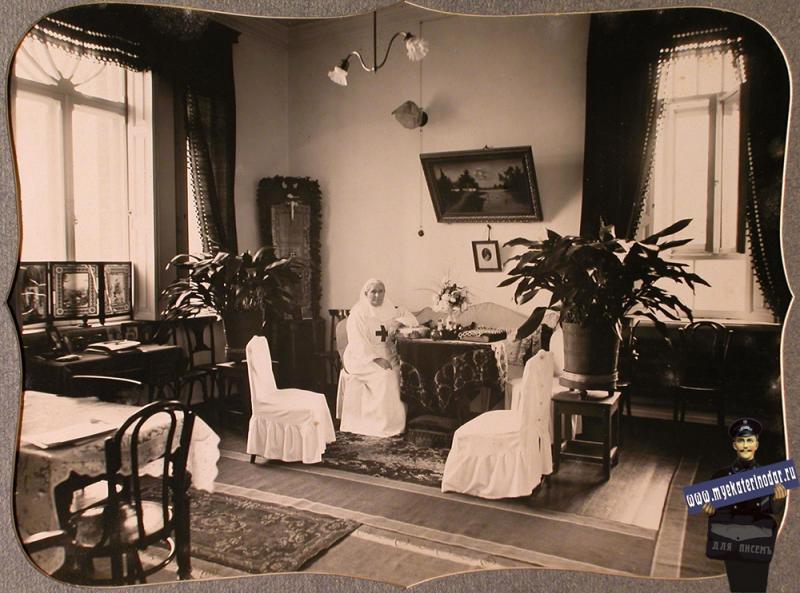 Екатеринодар. Сестра-настоятельница общины в своей комнате, 1915 год