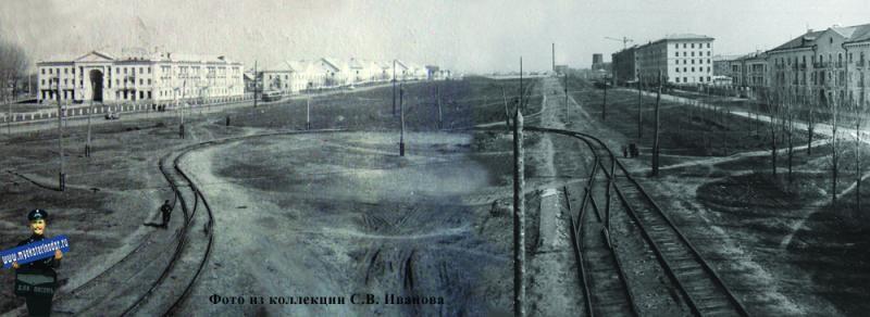 Краснодар. Угол улиц Красной и Светлой (Гаврилова), весна 1957 года.