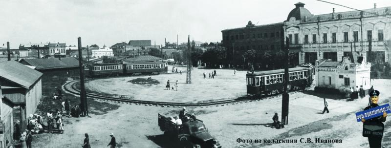 Краснодар. Угол улиц Красноармейской и Гоголя, 1950-е