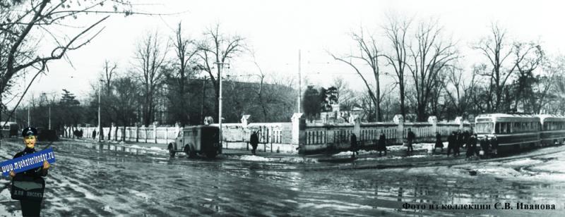 Краснодар. Угол улиц Тельмана и Коммунаров, 1955 год