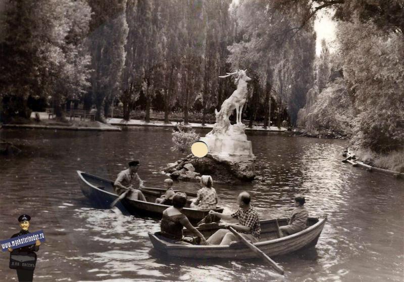 Краснодар. На пруду в Горпарке (Зеркальный вид)