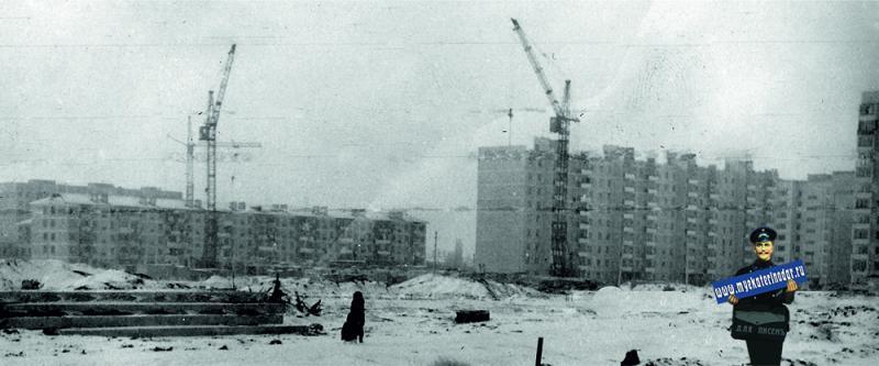 Краснодар. КМР. Строительство детской поликлиники, 1981 год