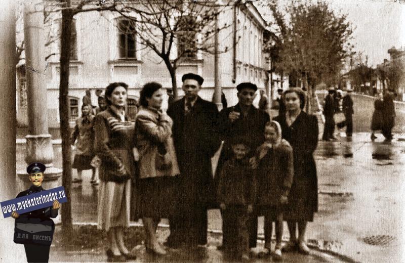 Краснодар. Красная, перекресток  с Пашковской, 1958 год