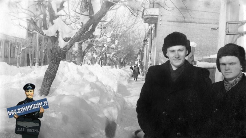 Краснодар. На улице Шаумяна. 14 февраля 1954 года.