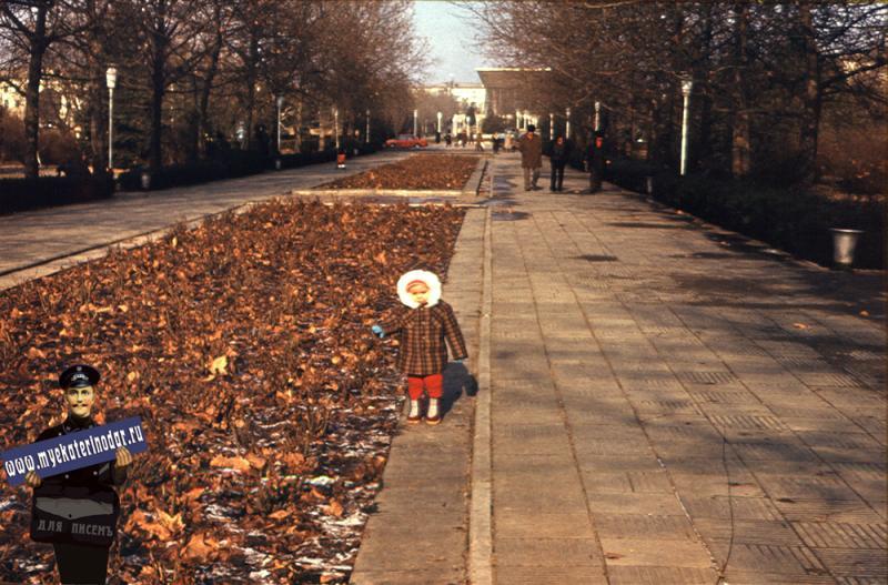 Краснодар. Бульвар по улице Красной, 1982 год