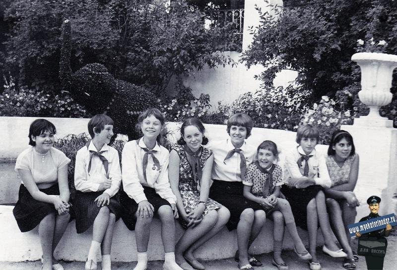 Краснодар. Детская делегация из Чехословакии в парке им. М. Горького, июль 1967 год