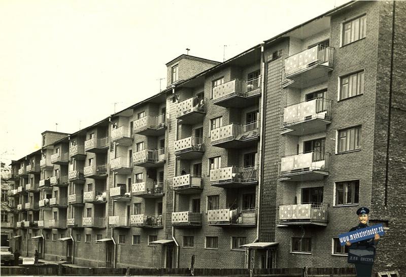 Краснодар. Дом по ул. Мира, 44, вид со стороны ул Красноармейской. 1965 год