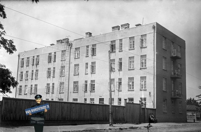 Краснодар. Кирова улица, перекресток с Гоголя, вид на север, 1930-е