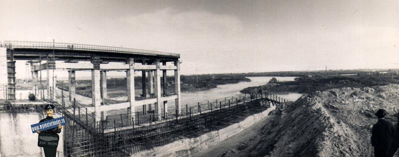 Краснодар. На строительстве Кубанского водохранилища, 1972 год