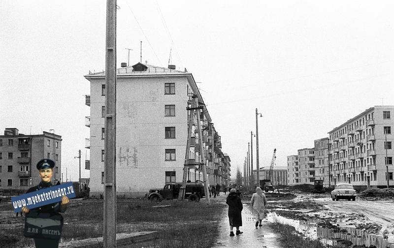 Краснодар. На улице Котовского у перекрёстка с Совхозной, 1964 год.