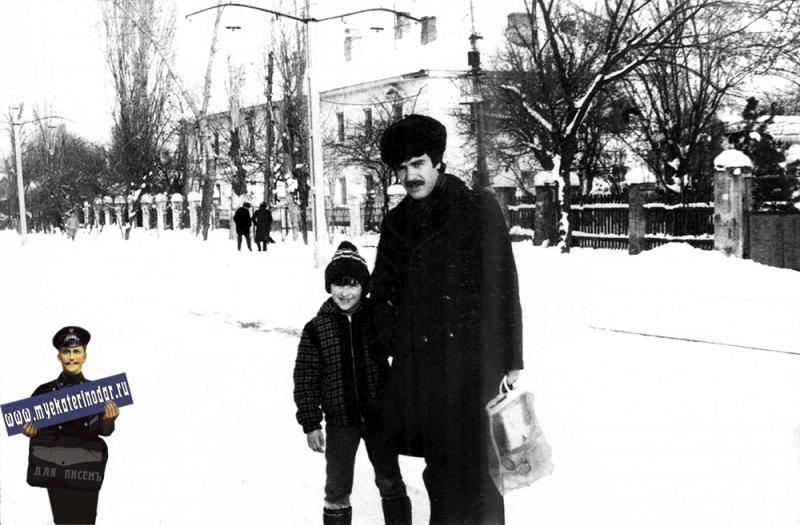 Краснодар. На улице Стасова, январь 1985 год
