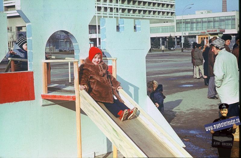 Краснодар. Новогодняя ёлка на площади Октябрьской революции, 1987 год.