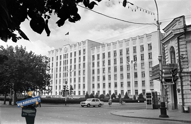 Краснодар. Перекресток ул. Красной и Ворошилова, 1971 год