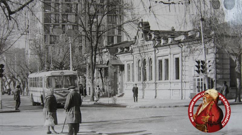 Краснодар. Перекресток улиц Красной и Пушкина, вид на запад, 1973 год