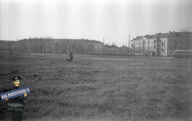 Краснодар. Пересечение улиц Красной и Светлой, 1964 год.