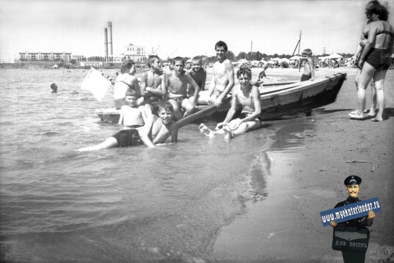 Краснодар. Пляж на Старой Кубани, около 1960-го года