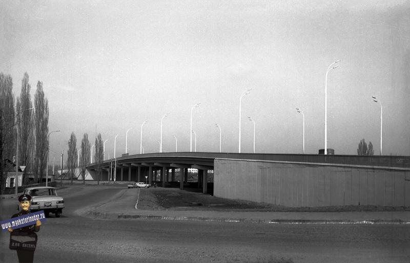 Краснодар. Путепровод на ул. Северной, съезд на ул. Новороссийскую, 1977 год