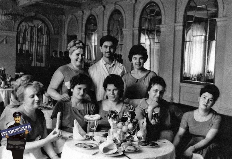 "Краснодар. Ресторан в гостинице ""Краснодар"". 60-е годы."