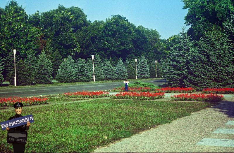 Краснодар. Сквер на улице Тельмана, 1987 год