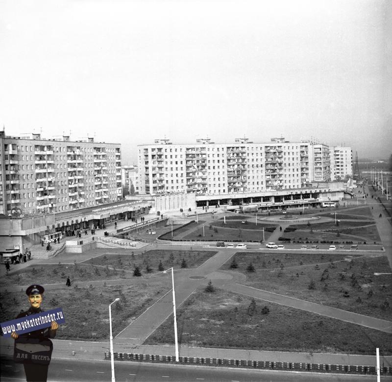 Краснодар. Сквер у универмага Фестивальный, 1980 год