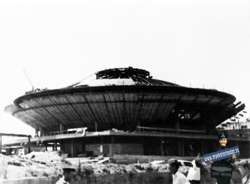 Краснодар. Строительство Краснодарского цирка, 10 июля 1969 года.