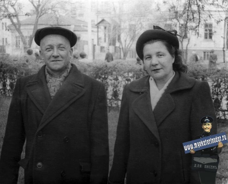 Краснодар. Постовая (ул. Тельмана), вид в сторону угла Тельмана и Красноармейской, 1956 год