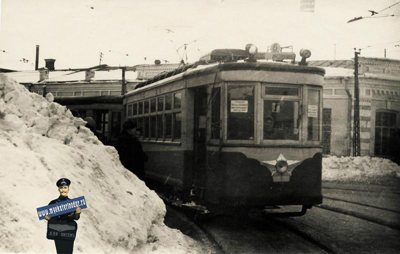 Краснодар. Угол ул. Коммунаров и Гоголя, зима 1954 года
