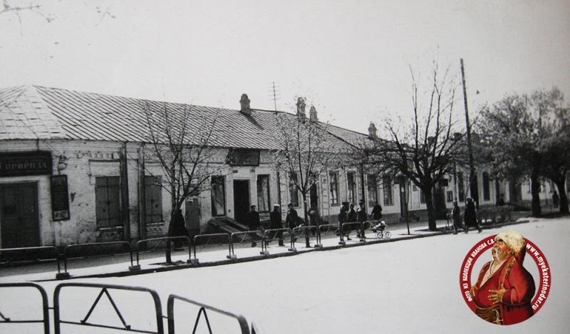 Краснодар. Угол ул. Шаумяна и Буденного, вид на запад, 1966 год