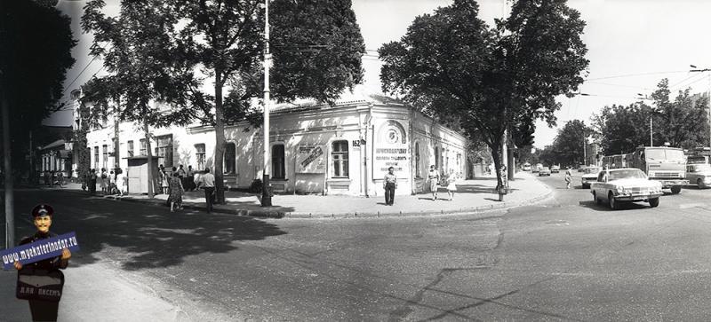 Краснодар. Угол улиц Красной и Северной. 1988 год
