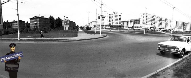 Краснодар. Угол улиц Тургенева и  Атарбекова, 1980 год