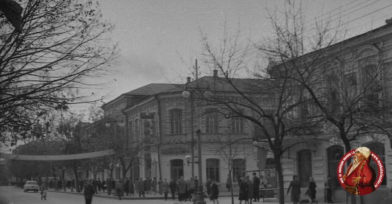 Краснодар. Улица Красная, перекресток с Орджоникидзе, вид на юг. Ноябрь 1964 года