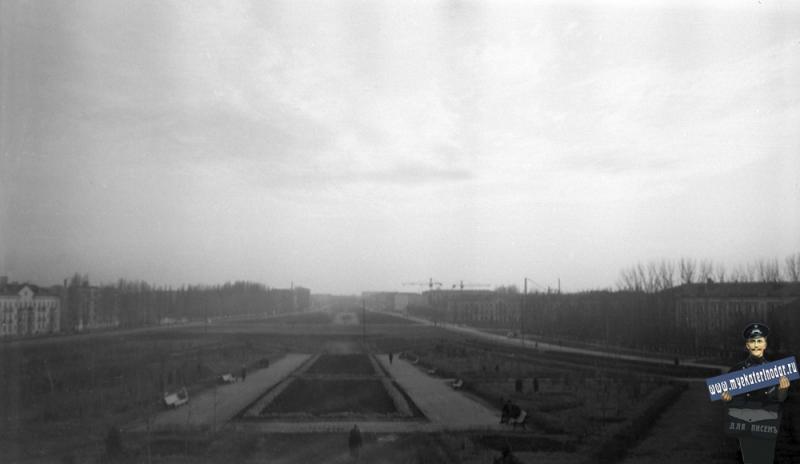 Краснодар. Ул. Красная, вид с кургана, 1964 год