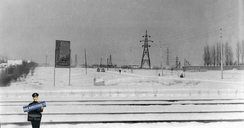Краснодар. Вид с улицы Трамвайной на улицу Селезнева, 1965 год