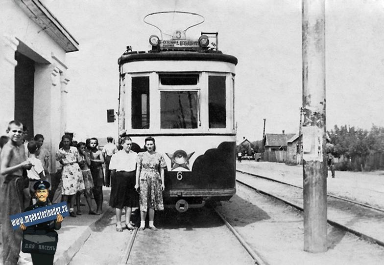 Краснодар. Улица Каляева у перекрестка с ул. Бабушкина. 1956 г.