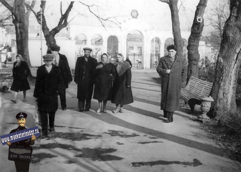 Краснодар. В горпарке им. М. Горького. январь 1964 года.