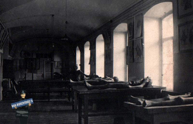 Краснодар. В здании мединститута. Анатомичка, 1931 год