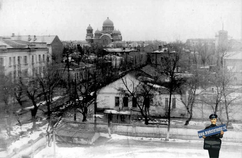 Краснодар. Вид из окна пединститута, 1965 год